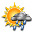 Some sunshine giving way to clouds, cold; a passing afternoon shower. High around 65F. Winds up to 6.9 mph.