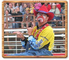 Punkintown the Coppertown Rodeo Clown