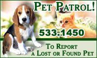 Pet Patrol! 533-1450 To report a lost or found pet