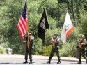 The Color Guard Approaches During Ceremony At Black Oak Casino