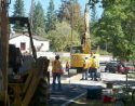 Road work at Columbia Elementary