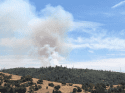 Photo taken from Angels Camp of Parrotts Ferry Road Fire north of Natural Bridges