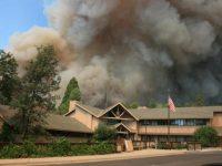 Rim Fire Smoke At Forest Service Groveland Ranger Station