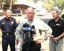 Governor Jerry Brown In Tuolumne During 2013 Rim Fire