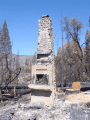 Rim Fire damage at Spinning Wheels Resort on the Middle Fork