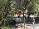 Jeep Fire on Phoenix Lake Road