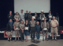 Group photo of the Yosemite National Park volunteer award recipients with park leadership at the award ceremony on National Public Lands Day, Saturday, September 27, 2014.