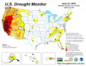 Drought Monitor Map, June 23, 2015