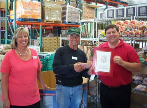 District-Director-Dana-Jorgensen awarded Leo Quintana, Calaveras County Male Senior of the Year