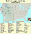 Current Nationwide Large Fire Incidents