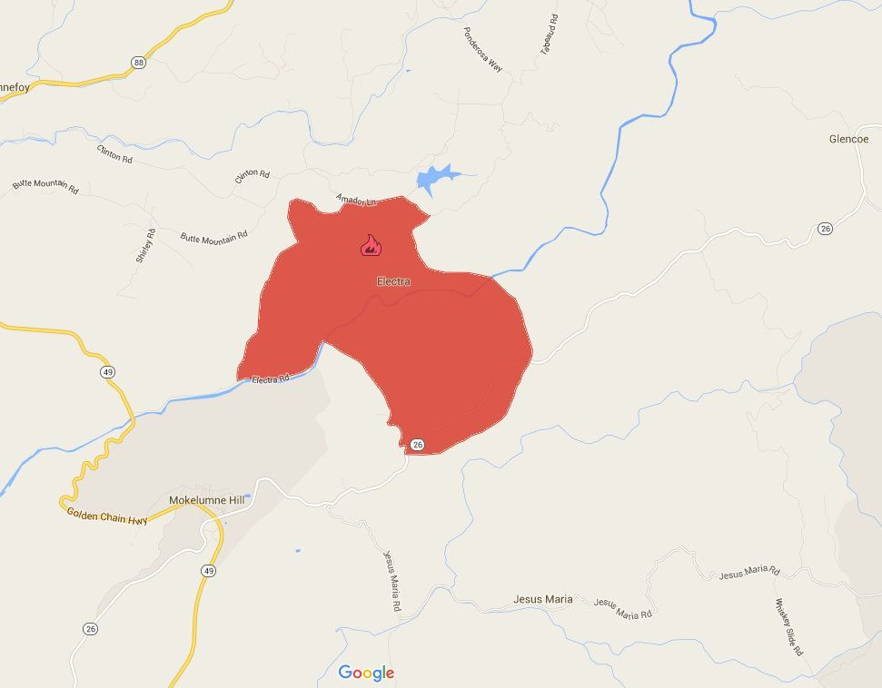 Update: e Fire Acreage Triples | myMotherLode.com on la fires map, bank of america map, cdcr map, gualala ca map, socal fires map, cal poly san, mariposa ca street map, national weather service map, western us fires map, rimfire map, blm map, wildfire map, cal fires in progress, calfire stations location map, caltrans map, dmv map, shasta calfire unit map, cali fires map, current ca fires map,