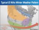 Typical El Nino cold season storm pattern, , January 2016
