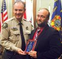 Tuolumne County Sheriff Jim Mele and Det. Paul Speers, Deputy of the Year 21015