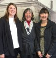 Columbia  candymakers Janice Nelson, of Nelson's Columbia Candy Kitchen, flanked by daughters Sarah and Jennifer outside Tuolumne County Board of Supervisors Chambers, March 29, 2016