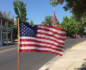 American Flag In Downtown Sonora