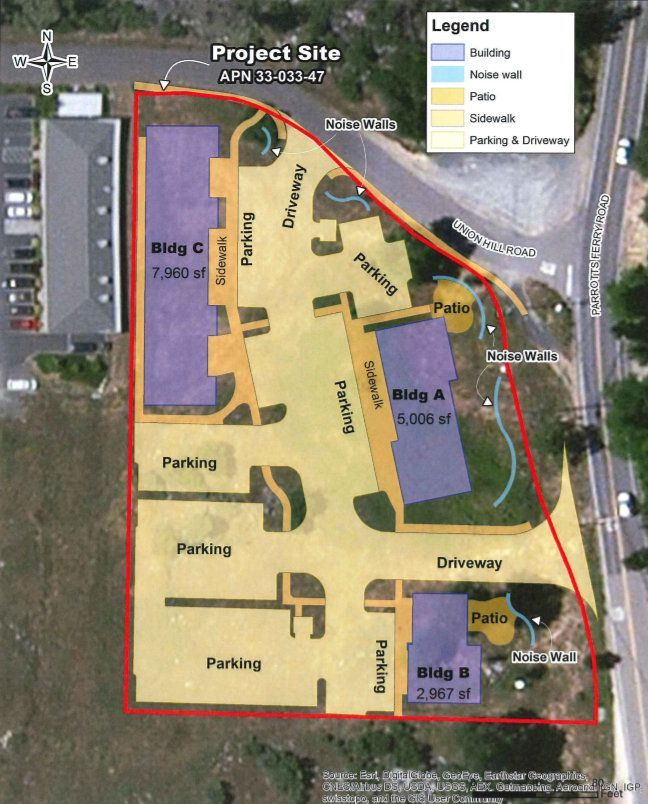Map of Commercial Buildings Proposed in Columbia submitted to the TC Planning Commission