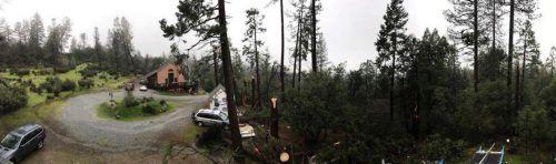 Storm Damage In Twain Harte - Ponderosa Drive