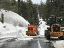 CHP San Andreas captures snow-clearing operations on Highway 4-Ebbetts-Pass, May 25, 2017