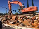 Chevron Station demolished on Mono Way
