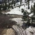 Highway 108 Sonora Pass snow and fast river