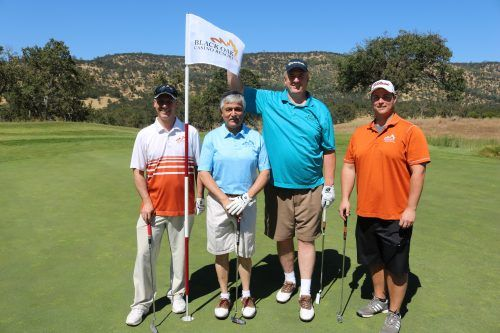 SRMC Golf Classic: Black Oak Casino Resort's Aaron Moss, Ron Patel, Ed Wickman and BJ Nelson at the Medical Center's Golf Classic.