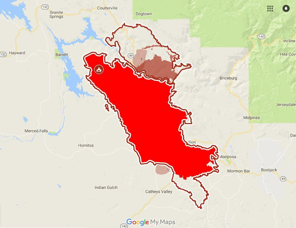 Cal Fire Map >> Update: Detwiler Fire Numbers Incrementally Grow | myMotherLode.com