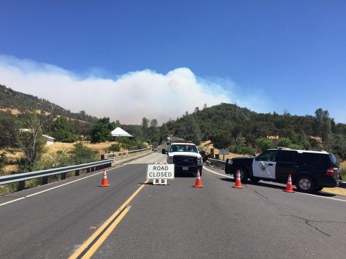 Southbound Hwy 49 closed at Highway 132 due to Detwiler Fire, Sonora CHP