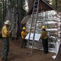 Wrapping Cabins In Path Of Railroad Fire