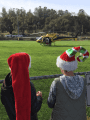2017 Santa-Fly-in and Interfaith Coat Drive helpers watch St. Nick arrive