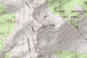 USGS Topo Map Detail of Ward Peak Tahoe