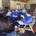 Tuolumne County Supervisors and department head's governance workshop at Rush Creek Lodge in the Groveland area