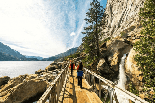 Hiking at Hetch Hetchy Reservoir