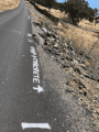 Calaveras County marked road for repair July 2018