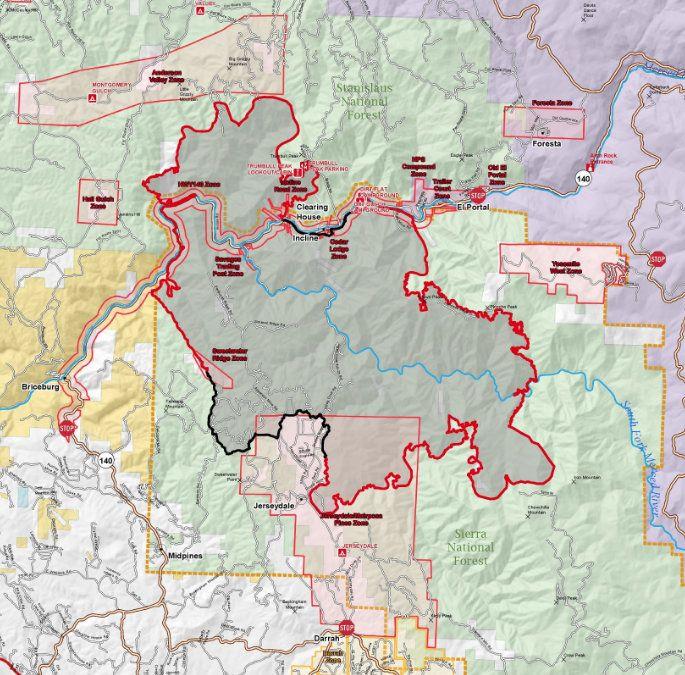 Ferguson Fire map 7-23-18