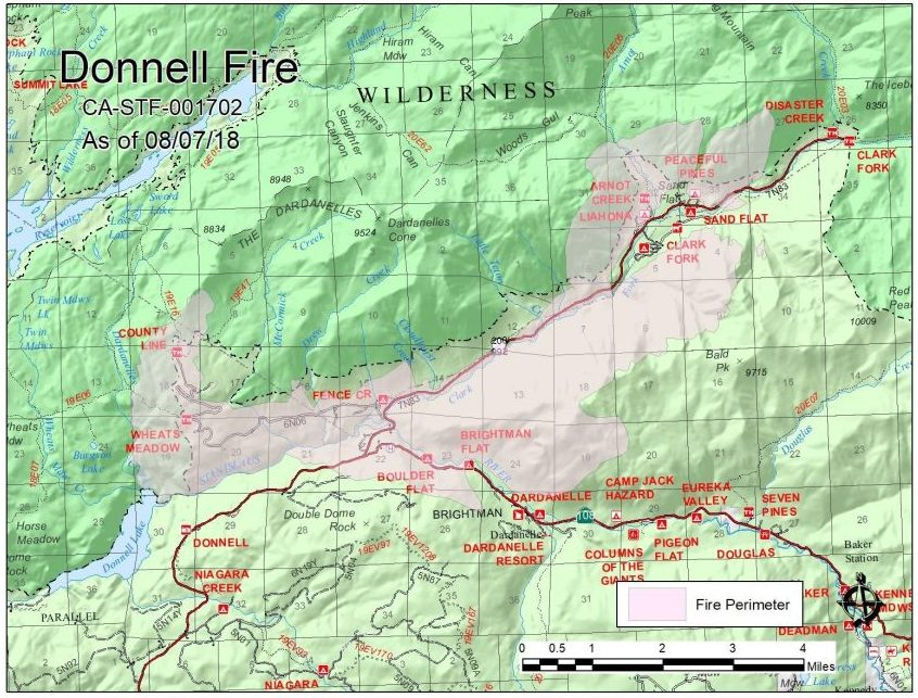 Update: New Maps, Supervisors Hear Latest On Donnell Fire