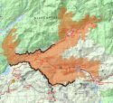 Donnell Fire Map 8/13/18