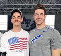 In this Aug. 1, 2018, photo provided by Andrea Kauppila, Kyle Kauppila, left, and his brother, Air Force defensive back Garrett Kauppila pose at the Air Force football indoor practice facility in Air Force Academy, Colo. Garrett Kauppila wears No. 22 in honor of the 22-month gap between him and his older brother. It's a strong bond that was only fortified last season. His brother suffered a brain injury in a motorcycle accident in California and a few days later Kauppila broke his collar bone while blocking a punt. Kauppila de-enrolled from the academy for a semester to heal and help take care of his brother -- living in a trailer outside the hospital. No. 22 is back on the field and has a big fan in his older brother, who's still recuperating. (Andrea Kauppila via AP)