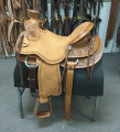 One of three Diamond K Saddlery saddles recently stolen from its store in Oakdale