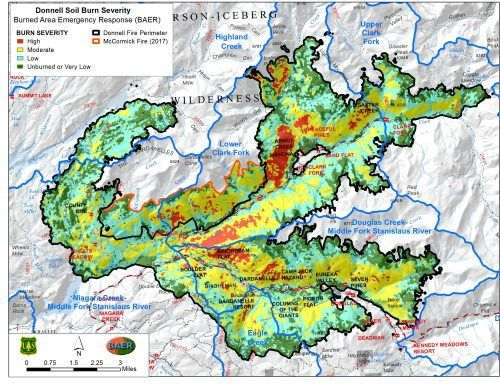 Donnells Fire Map.Map Shows Burn Severity Of Donnell Fire Mymotherlode Com
