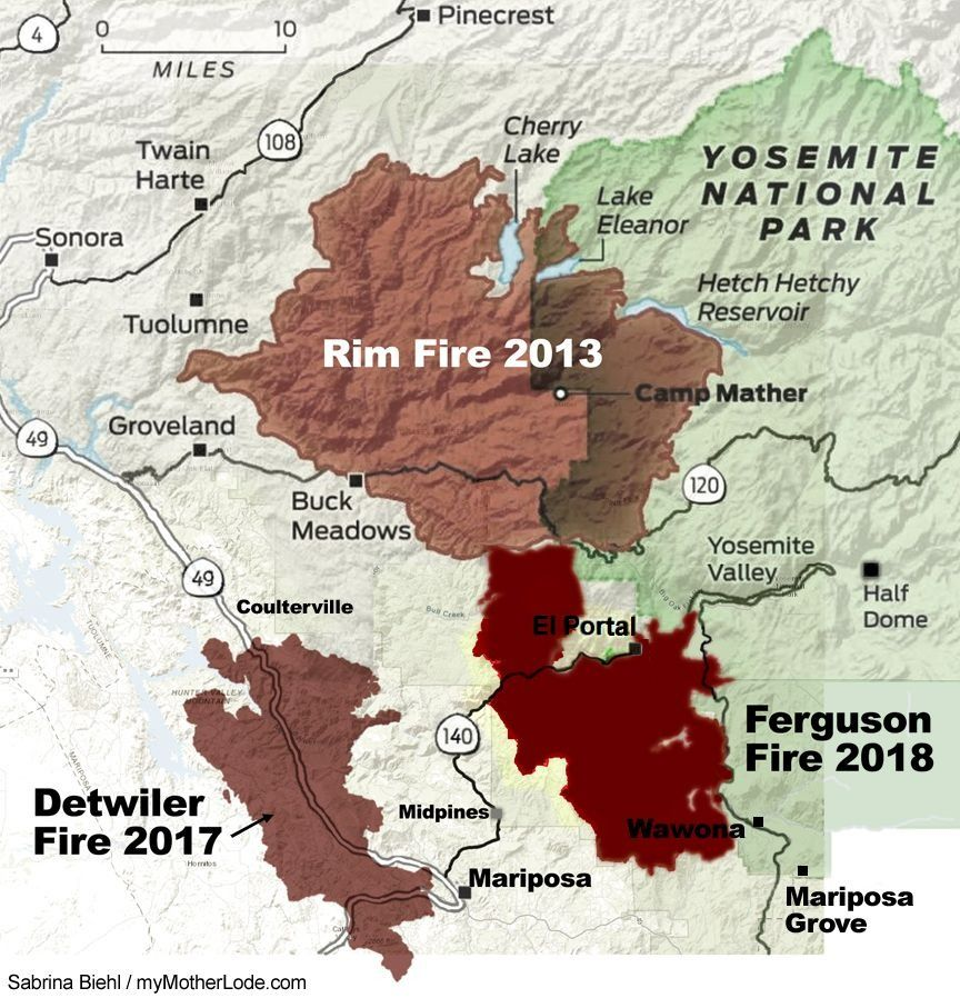 Fire Map Yosemite.Ferguson Fire Summary Timeline Mymotherlode Com
