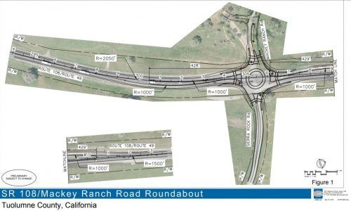 Highway 108/49 and Mackey Ranch Road Roundabout