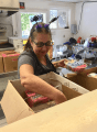 Women of the Moose member packs up food service supplies as the 40th Tuolumnr County Health Fair wraps Oct. 17 2018