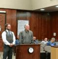 Steve Wilensky speaks to Supervisors with Robert Zellers to his left