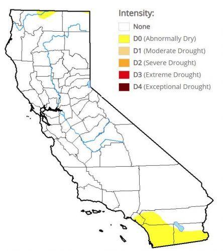 U.S. Drought Monitor California drought map