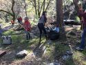 Clean up of vandalism at Riverside Day Use Area