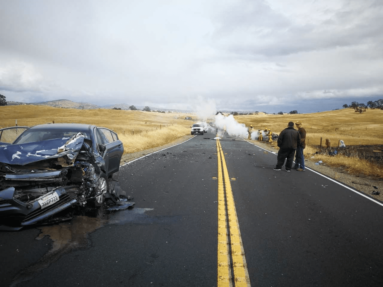 Fiery Highway Crash Claims One Life, Injures Five