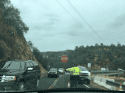 Traffic delays at Lake Tulloch Bridge due to guardrail work on the Tuolumne County side May 15 2019
