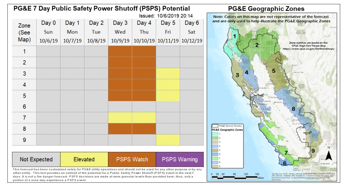 Mon Power Outage Map Update: PG&E Considering Planned Power Outages In Tuolumne And
