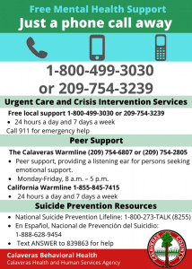 Mental Health Phone Numbers