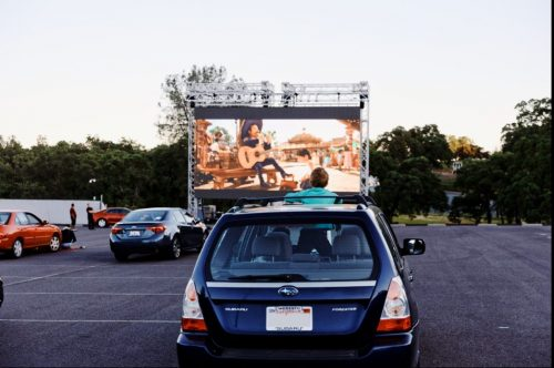 Test run at Chicken Ranch Casino Drive In Theater